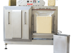 Brick vacuum packaging machine with double chamber